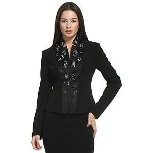 Balizza Taşlı Siyah Ceket