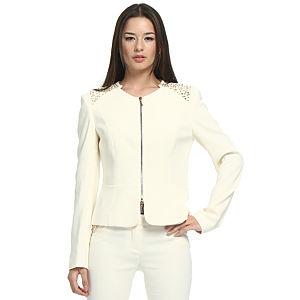 Balizza Zımbalı Krem Ceket