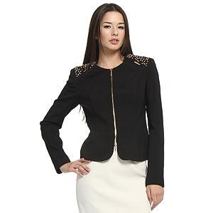 Balizza Zımbalı Siyah Ceket