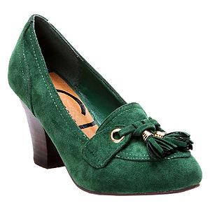 Canzone Püsküllü Yeşil Topuklu Ayakkabı