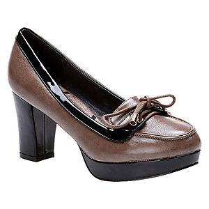Canzone Vizon/Siyah Topuklu Ayakkabı
