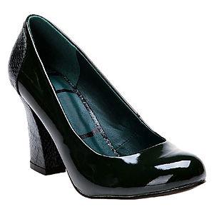 Canzone Yılan Desenli Yeşil Topuklu Ayakkabı