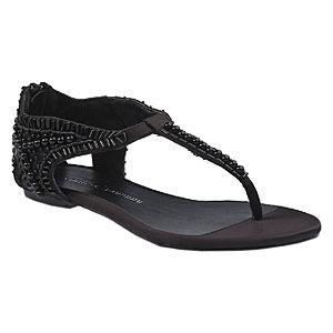 Chinese Laundry Boncuklu Siyah Sandalet