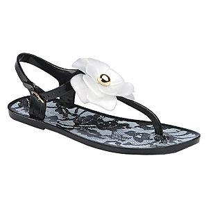Chinese Laundry Çiçekli Siyah Sandalet