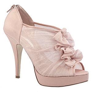 Chinese Laundry Fırfırlı Pembe Topuklu Ayakkabı
