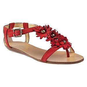 DaniBlack Çiçekli Kırmızı Sandalet