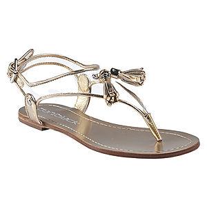 DaniBlack Püsküllü Altın Rengi Sandalet