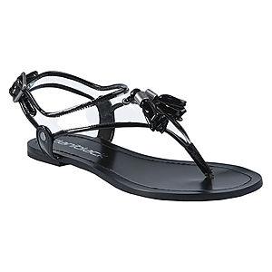 DaniBlack Püsküllü Siyah Sandalet