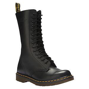 Dr. Martens Black Smooth Siyah Bağcıklı Çizme