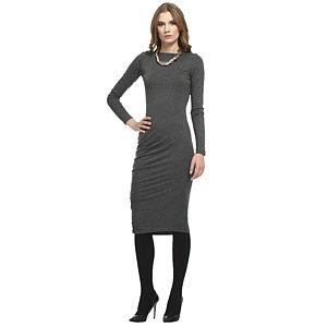 Enmoda Asimetrik Büzgülü Füme Elbise