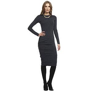 Enmoda Asimetrik Büzgülü Lacivert Elbise