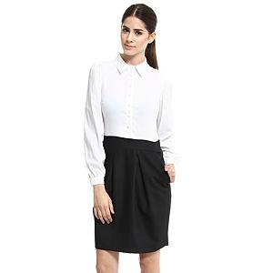 Enmoda Beyaz/Lacivert Elbise