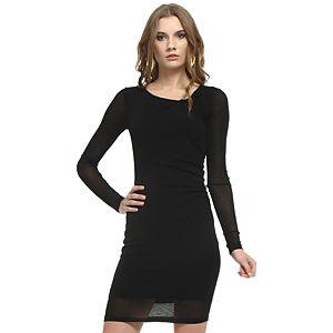 Enmoda Büzgülü Siyah Elbise