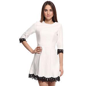 Enmoda Dantelli Beyaz Elbise