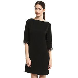 Enmoda Dantelli Siyah Elbise