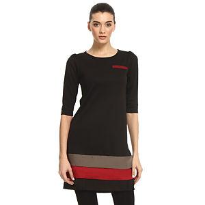 Enmoda Katkat Etekli Siyah Elbise
