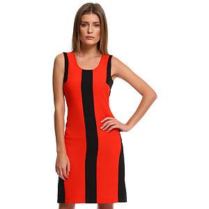 Enmoda Kırmızı/Siyah Panel Elbise