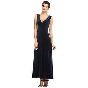 Enmoda Lacivert Kadife Elbise