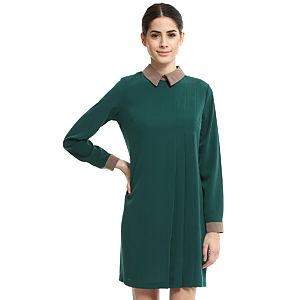 Enmoda Pilili Yeşil Elbise