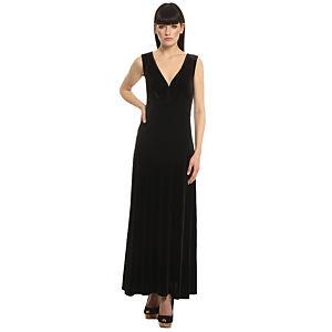 Enmoda Siyah Kadife Elbise