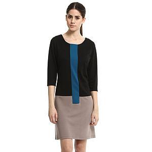 Enmoda Siyah/Vizon Elbise