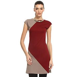 Enmoda Vizon/Bordo Elbise