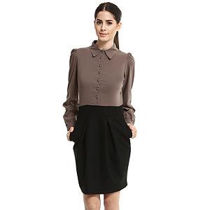 Enmoda Vizon/Siyah Elbise