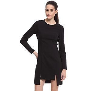 Enmoda Yırtmaçlı Siyah Elbise