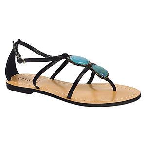 Ethic Siyah Sandalet