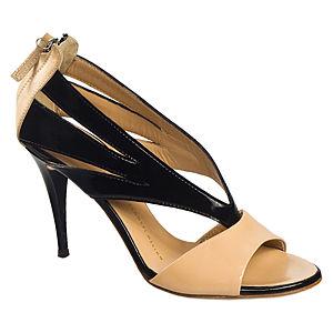 Giuseppe Zanotti Siyah/Krem Topuklu Ayakkabı