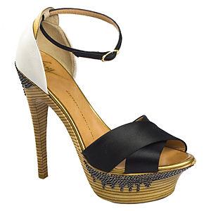 Giuseppe Zanotti Siyah Topuklu Sandalet