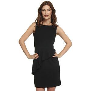 Koton Asimetrik Peplumlu Siyah Elbise