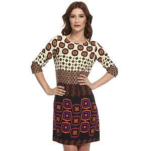 Koton Bej/Turuncu Desenli Elbise
