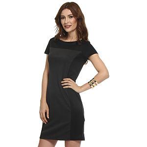 Koton Füme/Siyah Panel Elbise