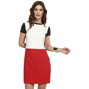Koton Krem/Kırmızı Elbise