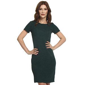 Koton Sırt Dekolteli Koyu Yeşil Elbise