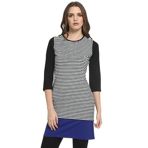 Koton Siyah/Beyaz Çizgili Elbise