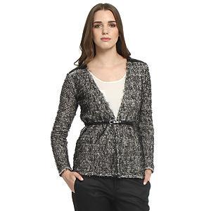 Koton Siyah/Beyaz Kırçıllı Ceket