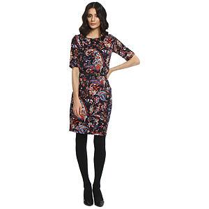 Koton Siyah/Çok Renkli Şal Desenli Elbise