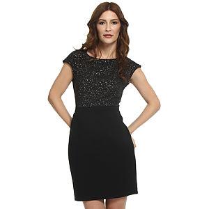 Koton Yıldızlı Siyah Elbise