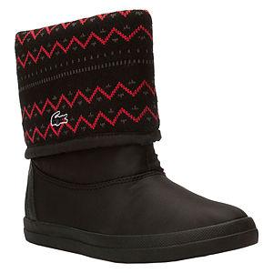 Lacoste Kış Desenli Siyah Çizme