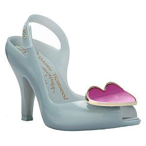Melissa Pembe Kalpli Gri Topuklu Ayakkabı