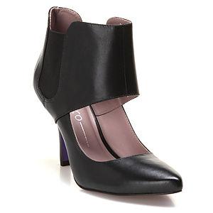 Miezko Bilekli Siyah Topuklu Ayakkabı