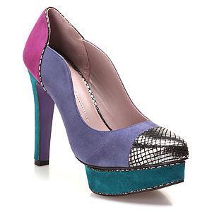 Miezko Lila/Pembe Topuklu Ayakkabı