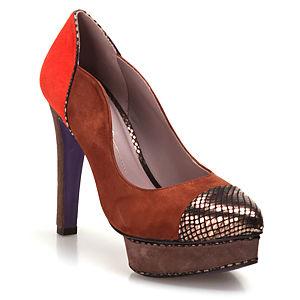 Miezko Taba/Turuncu Topuklu  Ayakkabı