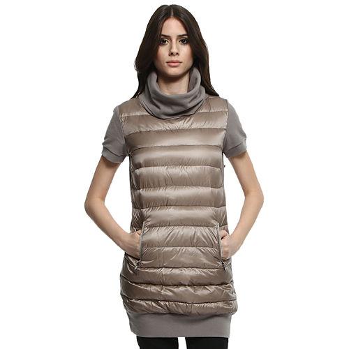 Moncler Kısa Kollu Vizon Elbise