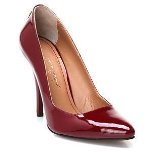 Pierre Cardin Bordo Topuklu Ayakkabı