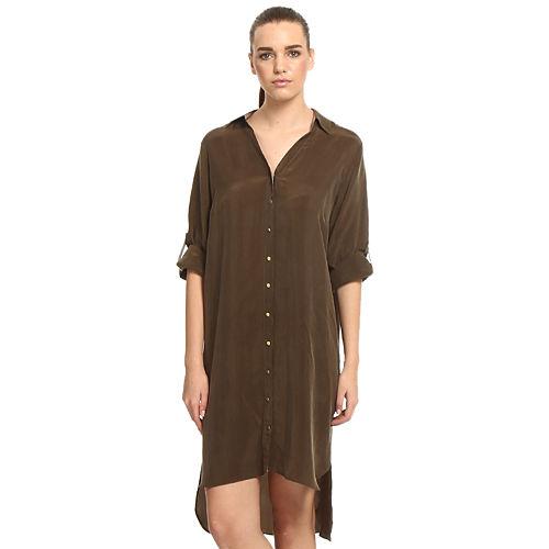 Sade İstanbul Haki Gömlek Elbise