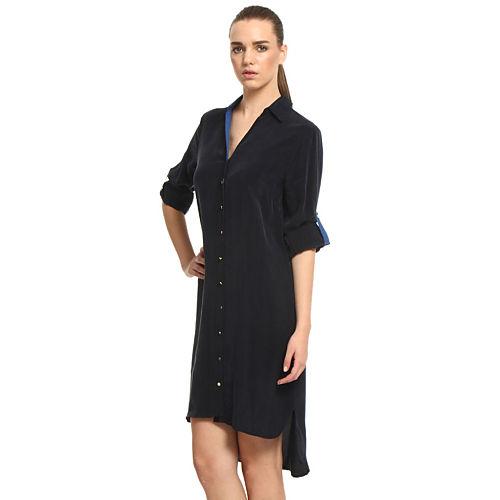 Sade İstanbul Lacivert Gömlek Elbise