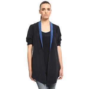 Sade İstanbul Mavi Yakalı Lacivert Ceket